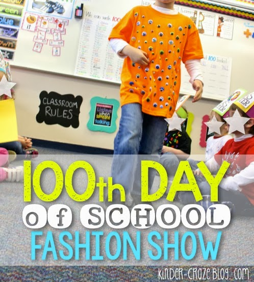100th day of school tshirts and fashion show… cute idea!