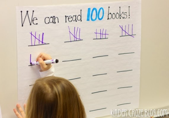 read 100 books on the 100th day of school