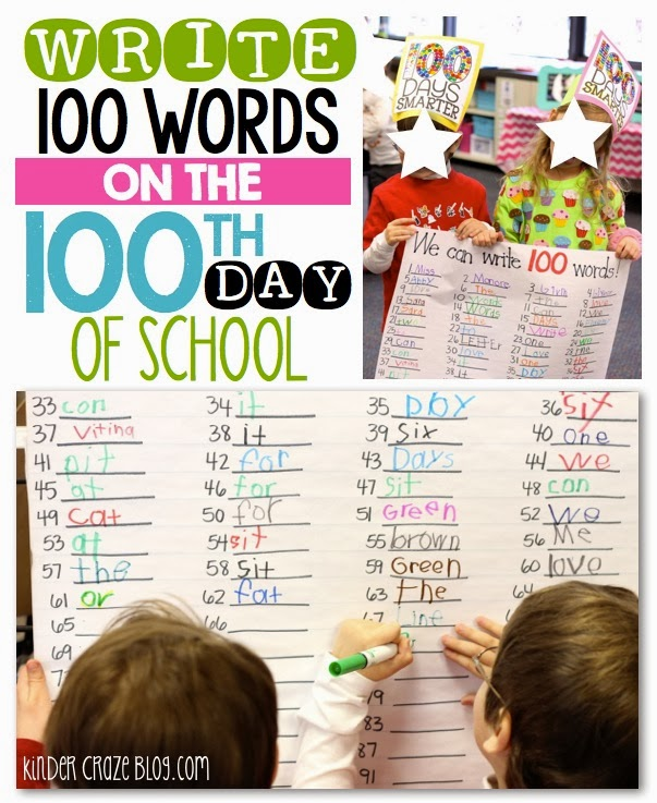 write 100 words on the 100th day of school… this blog post has TONS of great ideas for the 100th day of school