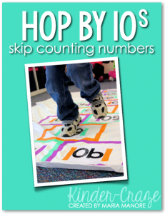 DIY hopscotch for the 100th day of school… FREE printable