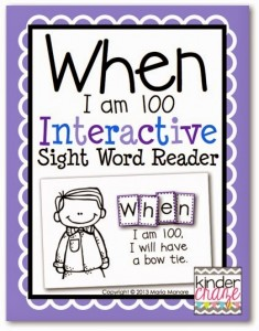 Interactive Sight Word Reader for the 100th Day of School