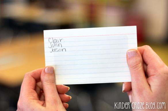 Make classroom flashcards more effective. Use a pencil to record the names of students struggling with the sight word or math fact on the back of the card so you know who to practice that card with