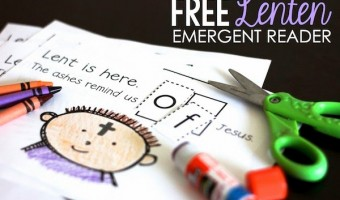 Lenten Interactive Sight Word Reader FREEBIE