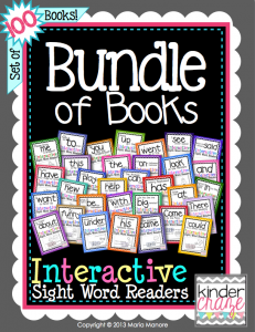 Bundle of Books Interactive Sight Word Readers by Maria Manore… one of the best values on TpT
