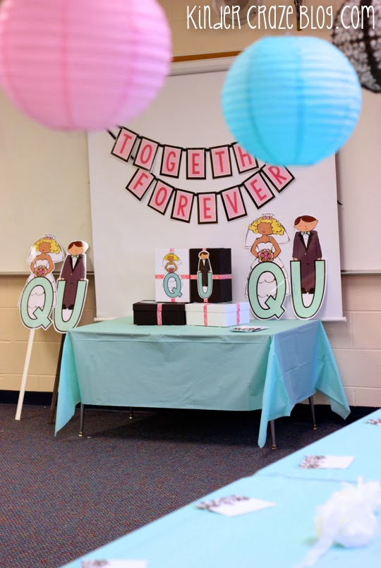adorable ideas for a Q and U wedding in kindergarten
