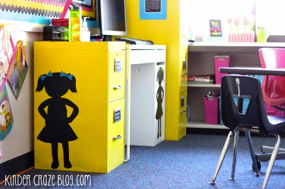adorable classroom file cabinets!