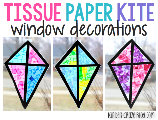 Tutorial For Creating Tissue Paper Kites With Contact Paper. A Great Spring  Craft For The