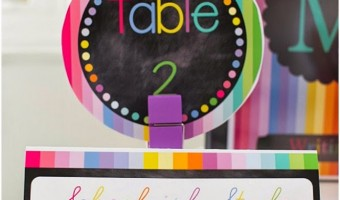 Rainbow Chalkboard GIVEAWAY from Schoolgirl Style