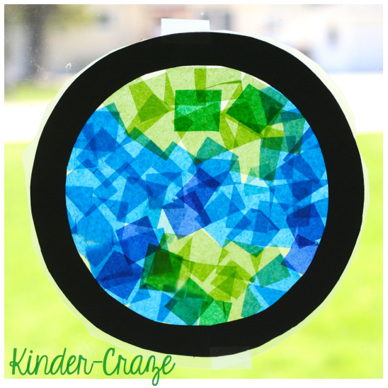 Earth Day Stained Glass decoration