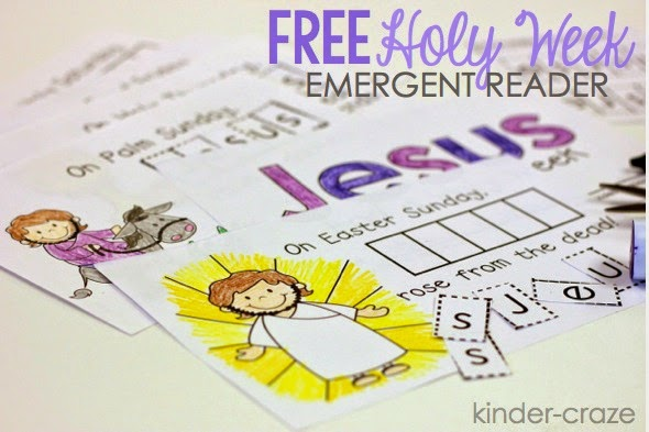 FREE emergent reader to teach about Holy Week