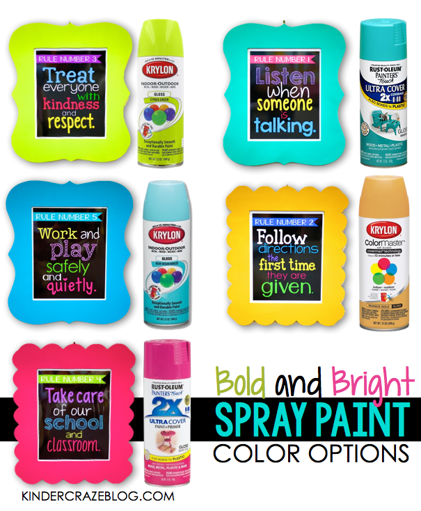 LOVE these spray paint colors