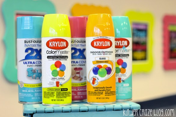 this kindergarten teacher with an adorable classroom shares all her favorite colors of spray paint