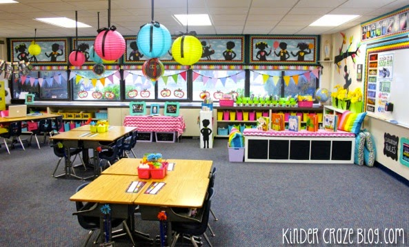 Classroom Window Design ~ Rainbow chalkboard giveaway from schoolgirl style