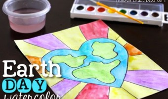 Earth Day Student Watercolor Painting Tutorial