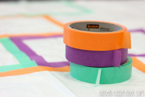 make your own indoor hopscotch