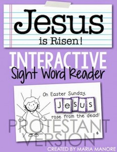 FREE religious emergent reader for Easter