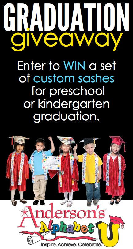 GIVEAWAY! Enter to win a set of custom sashes for preschool or kindergarten graduation!