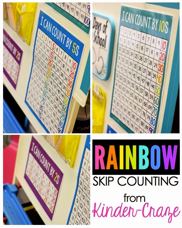Teacher anchor charts for skip counting