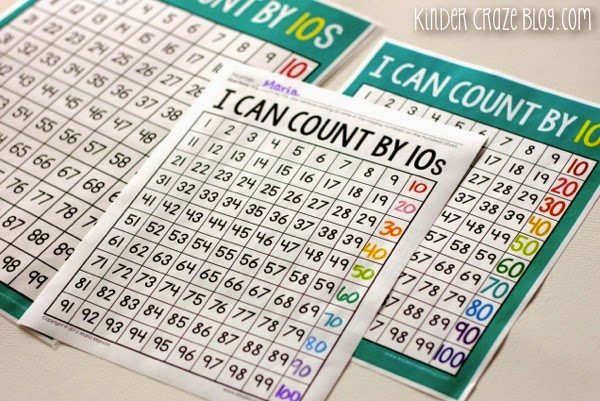 Rainbow Skip Counting anchor charts, student chards and practice pages