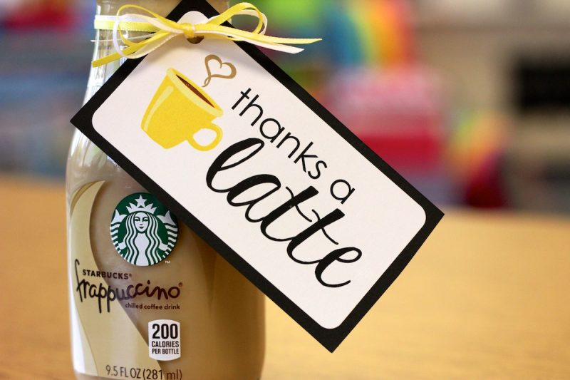 FREE Thanks a Latte gift labels