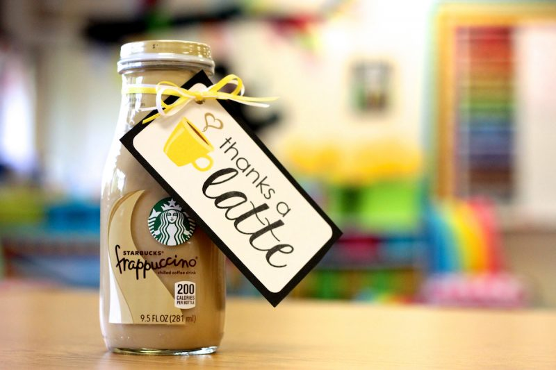 thanks a latte - FREE thank you gift labels