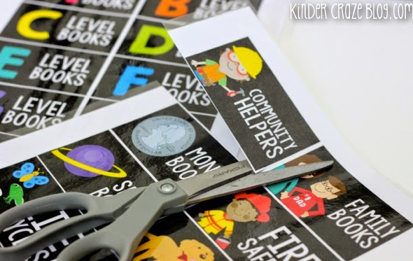 tips to label and organize your classroom library