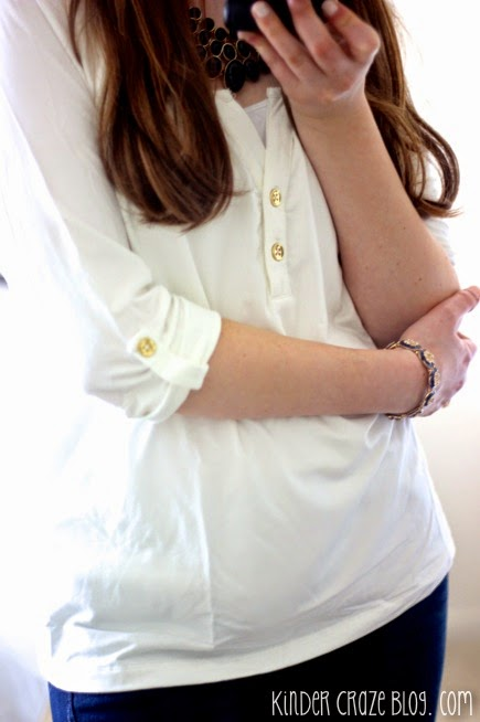love this casual white shirt from Stitch Fix