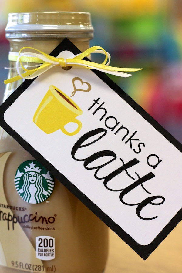 thanks a latte - FREE gift labels
