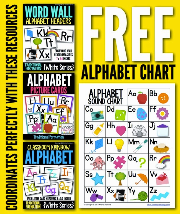 Alphabet Charts For Kindergarten Free Alphabet Chart