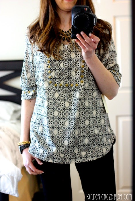 stud detail blouse from Stitch Fix with black accessories