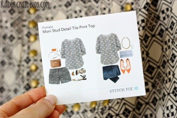 stud detail blouse from Stitch Fix