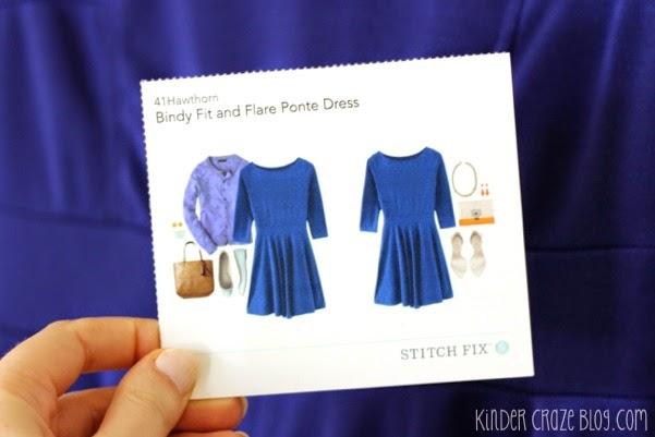 indigo fit & flare dress from Stitch Fix