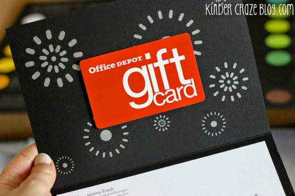 Enter to WIN an Office Depot gift card