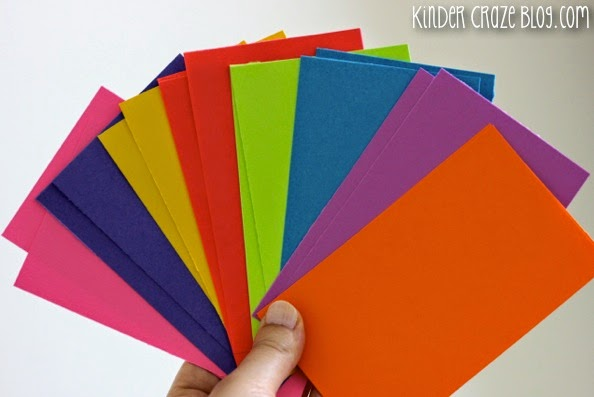 create your own brightly colored flashcards with Astrobrights papers