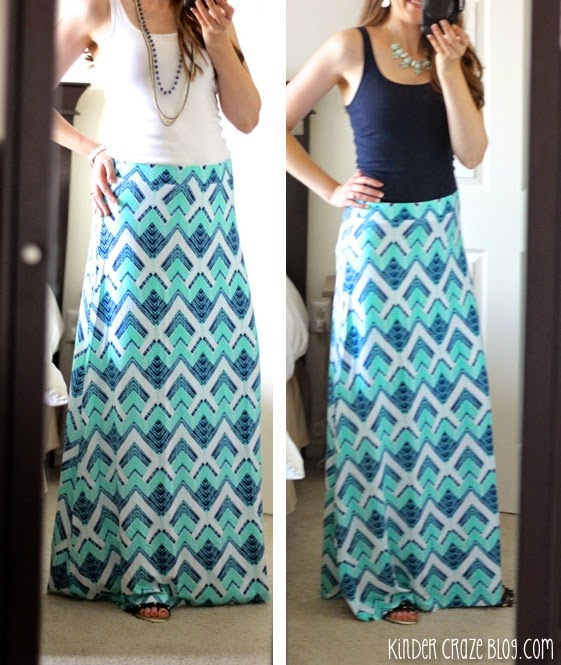 teal and navy maxi skirt from Stitch Fix