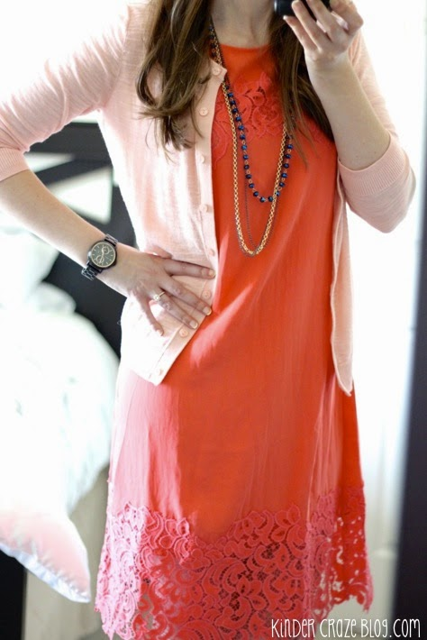 stitch fix dress with lace