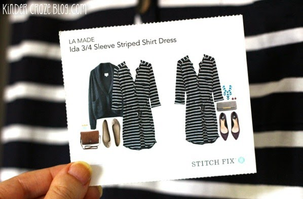 striped wrap dress from Stitch Fix