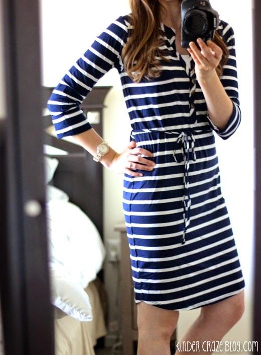 striped wrap dress from Stitch Fix