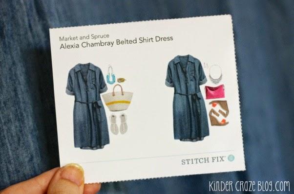 chambray wrap dress from Stitch Fix