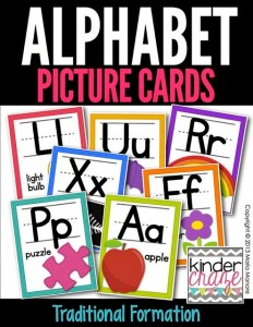 Alphabet Picture Cards Traditional White Series