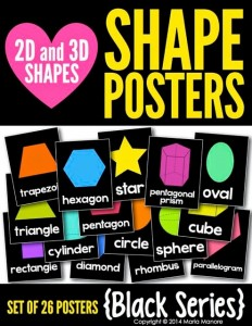 2D and 3D Shape Posters Black Series