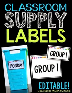 Classroom Supply Labels White Series