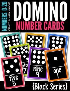 Domino Number Cards Black Series