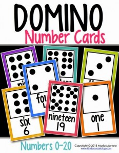 Domino Number Cards White Series