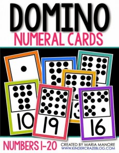 Domino Numeral Cards White Series