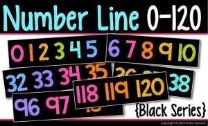 Number Line 0-120 Black Series