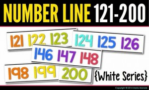 Number Line 121-200 White Series