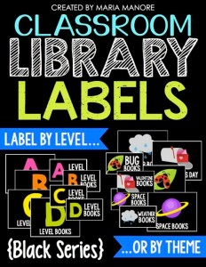 Classroom Library Labels Black Series
