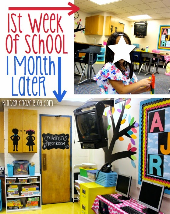 a kindergarten classroom transformation during the school year