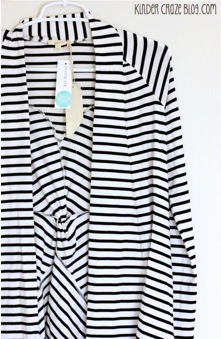 Clove Twist Back Striped Cardigan from Stitch Fix